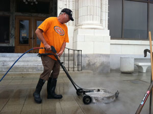 Ventura City Hall Power Washing